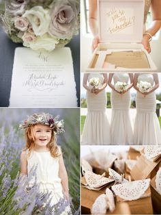 Invitations, Bridesmaids and flower girls
