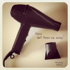 """""""When you get a new blow dryer, don't throw out the nozzle! A lot of people do this and don't realize that it's an important attachment. A nozzle helps direct the cuticle downward and gives you a much smoother effect when blow drying. After your hair is blown out and the cuticles are sealed down, then you can remove the nozzle and """"stir up"""" your hair for added texture! Xx Kristin"""""""