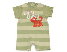 "*Little Tiger"" Jumpsuit mit Patchwork Tiger-Applikation in Gr. 74 von #MarksandSpencer."