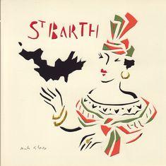 St Barth. carte découpée main Illustration, Rooster, Ethnic, Animals, Art, Art Background, Animales, Animaux, Kunst