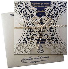 Your guests will have a hard time taking their eyes off this luxurious wedding invitation featuring the incredible precision of laser cutting. Shop now at www.regalcards.com