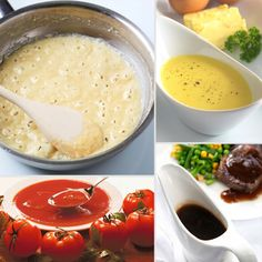 """Ever heard of the five French mother sauces? Originally classified by Antonin Carême in the 19th century and later updated by Auguste Escoffier in the 20th century, the sauces include béchamel, velouté, espagnole, hollandaise, and tomato. Most other sauces find their origins in these five types, hence the term """"mother."""" Here's a brief rundown on the ingredients of each sauce, plus common pairings:"""
