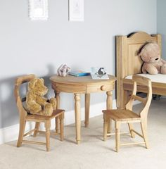 Amelie Oak Childrens Play Table #home #furniture #oak #wood #interior #decor #design #chair #table #bedroom
