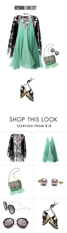 """""""Untitled #349"""" by modernmoda ❤ liked on Polyvore featuring Pussycat, Chloé, Miu Miu, Alexander McQueen and outdoorconcert"""