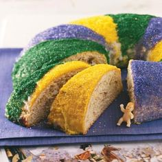 Traditional New Orleans King Cake Recipe from Taste of Home -- shared by Rebecca Baird of Salt Lake City, Utah