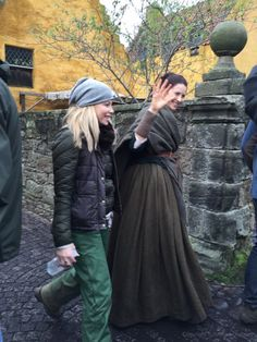 Caitriona Balfe on set of Outlander Season Two of Starz on November 25, 2015