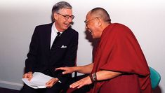 The Dalai Lama met Mister Rogers.  http://www.buzzfeed.com/summeranne/35-magical-moments-captured-with-a-camera?sub=2081402_980805#.npe0XvbdOz