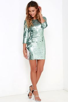 4161b3f5 16 Best Blue sequin dress images | 20s style, Great gatsby fashion ...