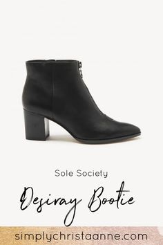 Love the sleek look of this bootie. Perfect with jeans or dresses! Sleek Look, Booty, Handbags, Jeans, Closet, Dresses, Fashion, Vestidos, Moda