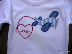 Airplane Valentine shirt.