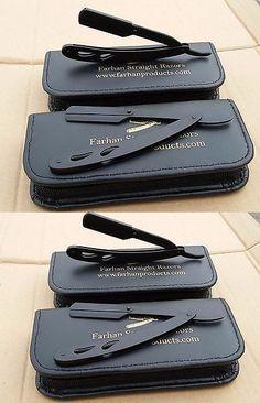 Straight Razors: Shaving Straight Barber Razor And Derby Double Edge Blades Black 2 Pcs -> BUY IT NOW ONLY: $35 on eBay!