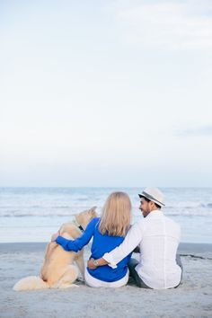 Folly Beach Charleston Engagement Session with Dog // Dana Cubbage Weddings // Charleston SC Wedding Photographer