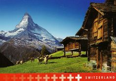 Switzerland is a federal state with 26 cantons(districts).
