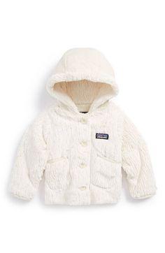 Patagonia 'Conejito' Hooded Fleece Jacket (Baby Girls) | Nordstrom