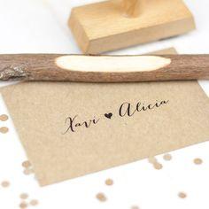SELLO BODA XAVI & ALICIA #sello #stamp #wedding #boda