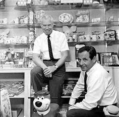 William Hanna and Joseph Barbera amid their creations, and merchandise from them Cartoon Books, Cartoon Tv Shows, Cartoon Characters, 3d Cartoon, Funny Cartoon Pictures, Cartoon Photo, Classic Cartoons, Cool Cartoons, Joseph Barbera