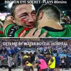 NRL is the best memes - come on America, ya think your the toughest around, oh please. Nrl Memes, Rugby Memes, Sports Memes, Rugby Quotes, Soccer Quotes, Golf Quotes, Australian Memes, Aussie Memes, Rugby League