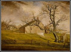 William Sidney Mount (American, 1807–1868). Long Island Farmhouses, 1862–63. The Metropolitan Museum of Art, New York. Gift of Louise F. Wickham, in memory of her father, William H. Wickham, 1928 (28.104) #spring