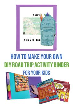 Your children will be excited about their next car ride with a Road Trip Activity Binder for your Kids. I'm showing you how to make your own custom binder filled with all the activities your kids love. #RoadTrip | Adventure | DIY Road Trip Activities, Book Activities, Road Trip With Kids, Travel With Kids, Travel Bingo, Make Your Own, Make It Yourself, Travel Crafts, Road Trip Hacks