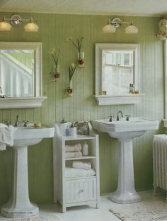 bathroom ideas coastal bathroom with blue and white motif blue bead board walls bring new england charm into this bathroom while a carrara marbu2026 - Bathroom Beadboard