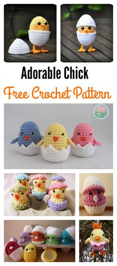 Adorable Free Chick Crochet Patterns
