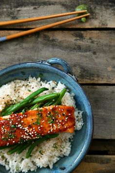 Blood Orange Miso Glazed Broiled Salmon