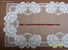 Crochet doily with a quite clear chart