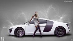 Audi+R+8+-+Luxury+racing+cars+Audi+R+8+with+fashion+model