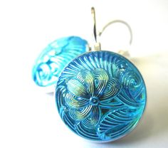 Vintage Glass Buttons | vintage glass button earrings | buttons