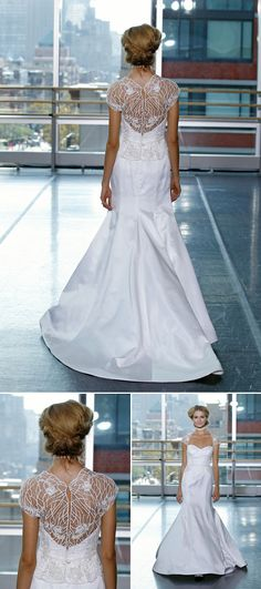 #Rivini #wedding #dress with beautiful open back detail from fall 2014 bridal market | via junebugweddings.com