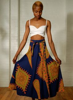 vintage dashiki print wraparound skirt by expvintage on Etsy, $49.00 #spring #fashion