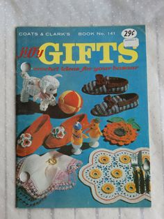 Jiffy Gifts Crochet Ideas for Your Bazaar Coats and Clark Book 141.  Crafty ideas for the crafting.