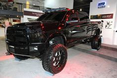 All black lifted truck www.CustomTruckPartsInc.com is one of the largest Truck accessories retailer in Western Canada. Lifted Dodge Ram