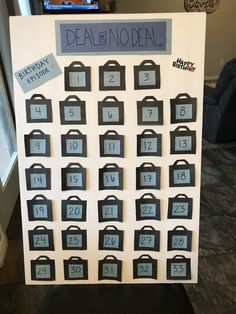 Deal or No Deal Game-board Birthday edition is a fun way to celebrate with your loved ones! Easy Diy Mother's Day Gifts, Diy Mothers Day Gifts, Mother's Day Diy, Christmas Deals, Christmas Party Games, Holiday, Games For Elderly, Games For Kids, Life Size Games