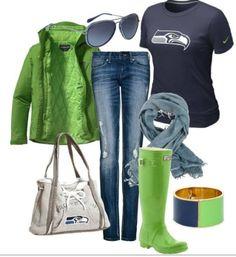 Rainy day Seahawks gear!