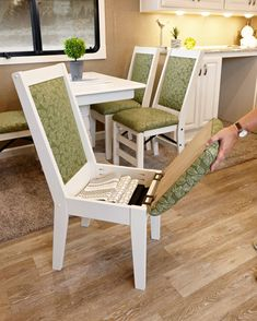 Home Discover Amazing Of The Best Storage Hacks 2019 For Tiny House RV Chair Storage and Organization home Tiny House Living Small Living Rv Living Rv Storage Storage Ideas Storage Chair Secret Storage Storage Hacks Decorative Storage Recycled Furniture, Diy Furniture, Furniture Design, Wood Chair Design, Craftsman Furniture, Building Furniture, Space Saving Furniture, Painted Furniture, Woodworking Bench