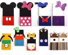 24 Mickey Mouse Clubhouse Favor temática botín Goody bolsas cumpleaños decoración de fiesta - Pete de Clarabelle Minnie Donald Daisy Chip Dale Goofy Pluto
