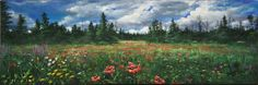 Original Wild Flowers Acrylic Painting by DebEverettArt on Etsy, $165.00