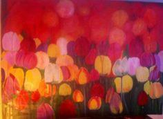 Tulipani Dicembre 2013 olio su tela 150x110