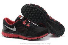official photos e807e 38baf Sale Discount Nike Dual Fusion ST 2 Black Sport Red Dark Grey Metallic Dark  Grey Mens The Most Flexible Running Shoes