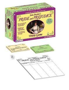 JANE AUSTEN'S PRIDE AND PREJUDICE TRIVIA GAME by MARINA GAMES, http://www.amazon.com/dp/B003MU2OTK/ref=cm_sw_r_pi_dp_A1Pfqb0XV2HKG