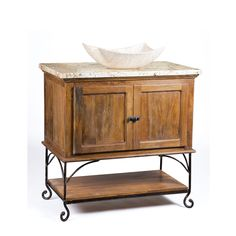 This transitional Crossville vanity has a classic design that makes it the perfect addition to any bathroom. This cabinet had a solid mango wood construction, and it stands on a base of solid forged iron rods. | #bathrooms #vanity #home #design #vesselbowls #transitional #decor #remodel #bathroom #IloveIDS #kbis #LookForLandK #LandKdesigns