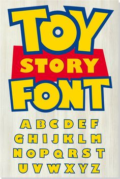 Toy Story font SVG + Toy Story font OTF + Toy Story logo svg png / Original Font / DIY Projects - Toys for years old happy toys Toy Story Font, Fête Toy Story, Toy Story Shirt, Toy Story Theme, Toy Story Cakes, Toy Story Party, Third Birthday, 3rd Birthday Parties, Boy Birthday