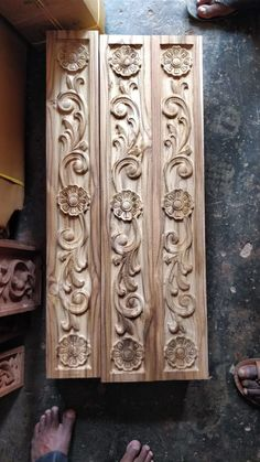 Beautiful CNC carved MDF panels to add a Unique Touch to Your Projects Wood Carving Designs, Wood Carving Patterns, Wood Carving Art, Stone Carving, New Door Design, Wooden Main Door Design, Double Door Design, Wood Art Panels, Blue Bedroom Decor