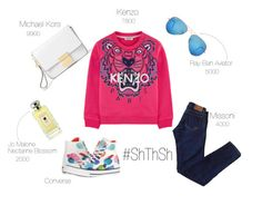 Kenzo Sweatshot Look by astraroid on Polyvore featuring мода, Converse, Michael Kors, Ray-Ban and Jo Malone