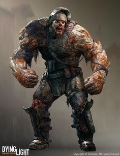 Imagine you on dying light fighting a big zombie like this with just a melee weapon Zombie Kunst, Arte Zombie, Zombie Art, Post Apocalypse, Creature Concept Art, Creature Design, Zombies Zombies, Zed Wallpaper, Character Concept