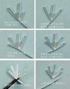 Claire's paper craft: White husking flower- tutorial