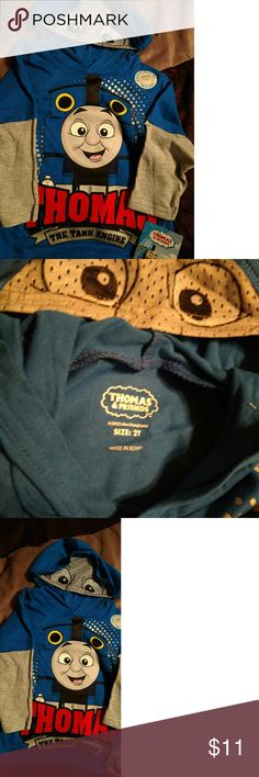 Thomas the Train w mesh hoddie Oh my cuteness! Any Thomas the Train fan would be estatic with this hoodie! Shirts & Tops Sweatshirts & Hoodies