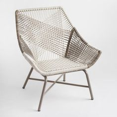Gray Woven All Weather Wicker Andalusia Outdoor Chair | World Market