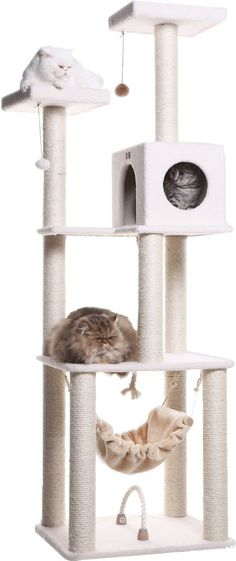 73 Cat Tree Condo Furniture Scratch Post Pet Bed Tower Hammock Climber Pamper your cats with this condo where they can sleep and play. It has great height which cats love. Cat Tree House, Cat Tree Condo, Cat Condo, Cat Lover Gifts, Cat Gifts, Diy Cat Tower, Condo Furniture, Tree Furniture, Furniture Scratches